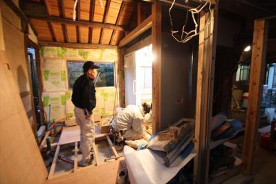 106 生口島 I様邸 ユニットバス松コース タカラスタンダード伸びの美容室(1617)、脱衣場増築リフォーム、複層ガラスサッシ工事  正義の味方 べんりMAN 15