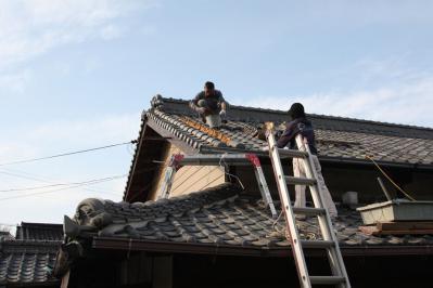 013 生口島 U様邸 (泥葺き瓦 補修工事) べんりMAN 15