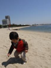 須磨で砂遊び