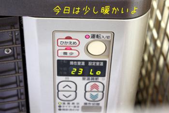 室温23度なり