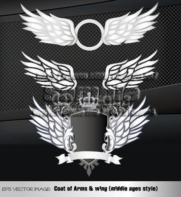 イラスト 紋章 翼