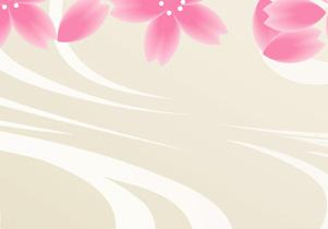 イラスト 桜吹雪ハート
