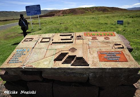 ティワナク遺跡案内図