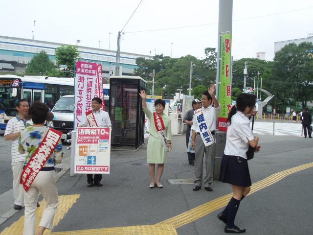 10-7-7甲子園の朝宣伝 003