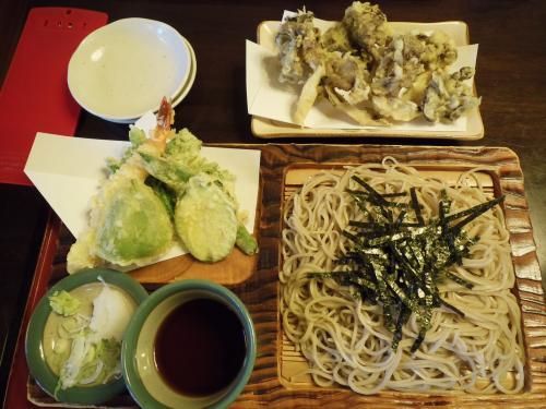 天ざる・舞茸の天ぷら