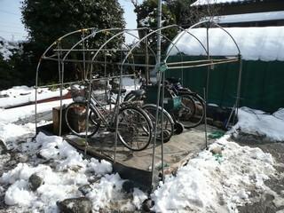 自転車ハウス 骨組み