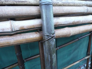竹垣 組み立て