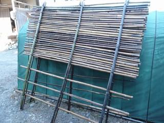 竹垣 組み上がり