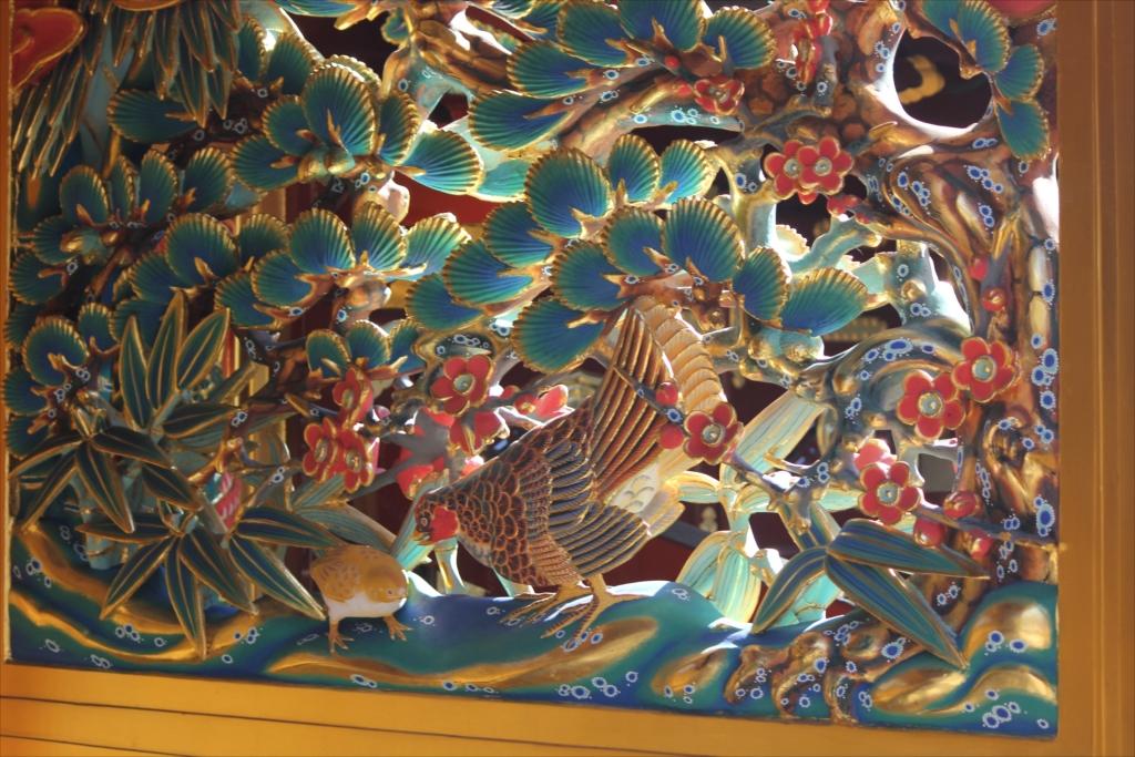松竹梅と錦鶏鳥の透彫_3
