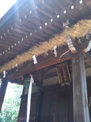 2012-08-19小豆澤神社しめ縄作成