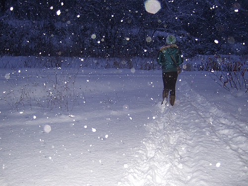 札幌 雪道 散歩