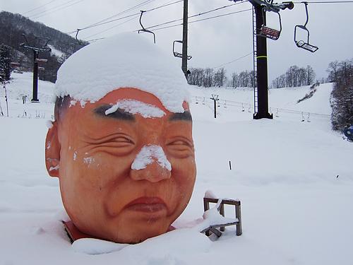 さっぽろばんけいスキー場 巨大おじさんの顔
