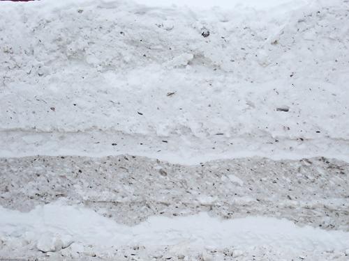 雪の断面 お菓子 道沿い