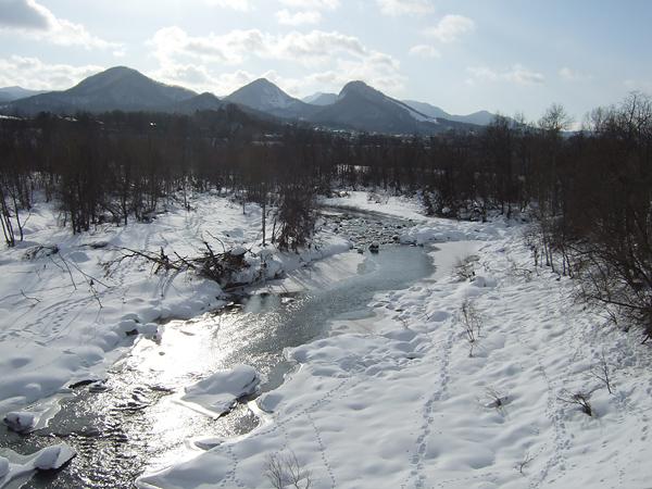 冬 豊平川