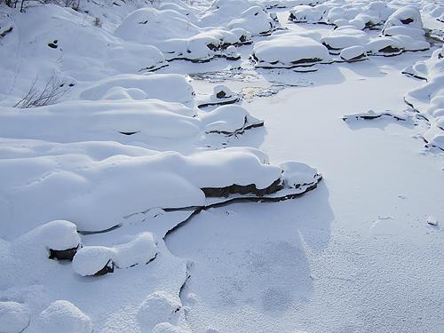 冬の十五島公園 吊橋からの風景
