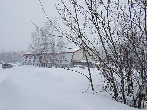 冬に逆戻り 札幌 北星乗馬クラブ