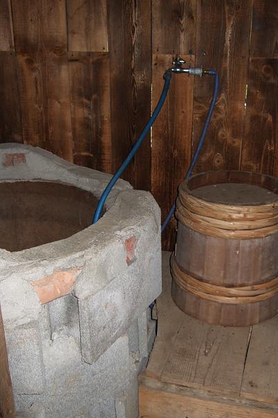 五郎の石の家 最初の家 風呂