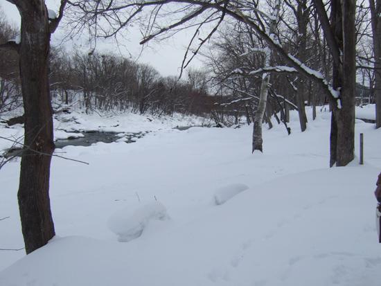 十五島公園 河原 雪