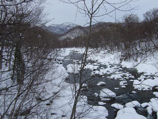 十五島公園 吊橋 雪