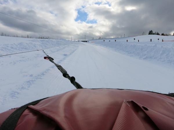 滝野スノーワールド チューブそり