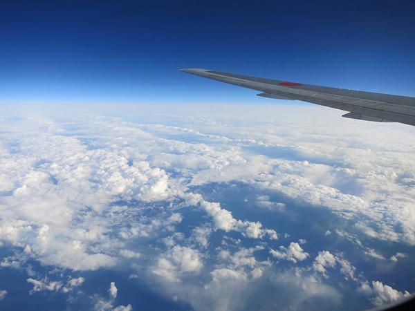 2013 九州行き 雲の上から