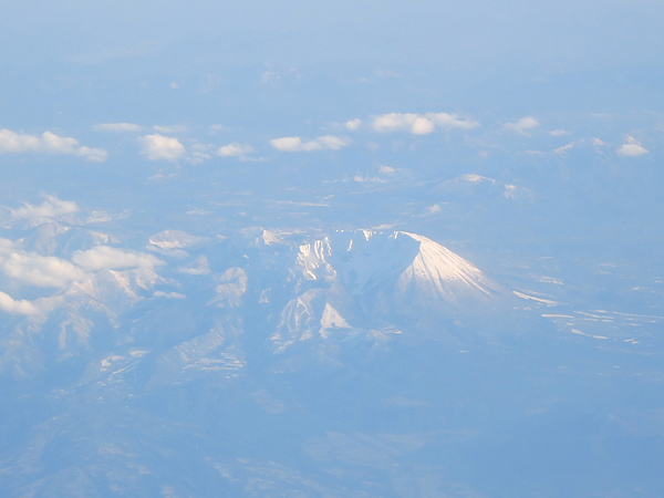 2013 九州行き 大山 機上から