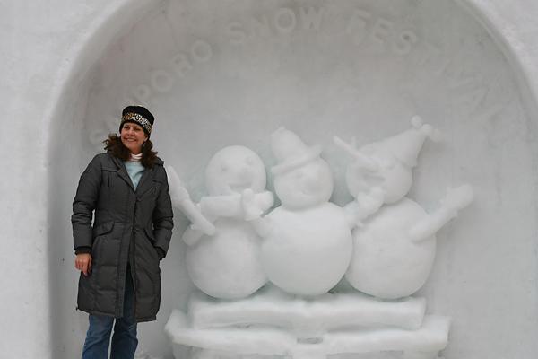 第63回さっぽろ雪まつり 滑り台 記念撮影