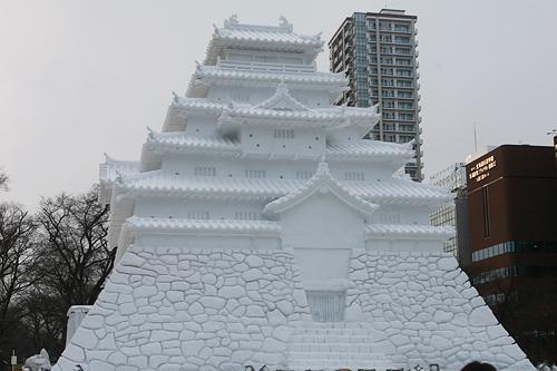 第63回さっぽろ雪まつり 会津 鶴ヶ城