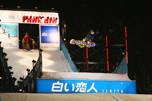 第63回さっぽろ雪まつり スノーボードジャンプ台 夜景