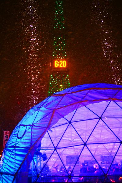 第63回さっぽろ雪まつり テレビ塔 夜景