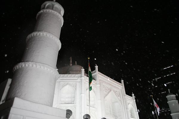 第63回さっぽろ雪まつり タージ・マハル 夜景