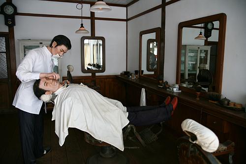 北海道開拓の村 旧山本理髪店
