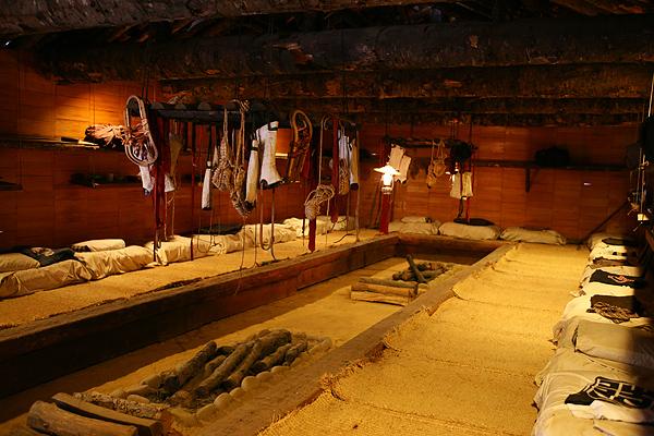 北海道開拓の村 旧平造材部飯場 内部