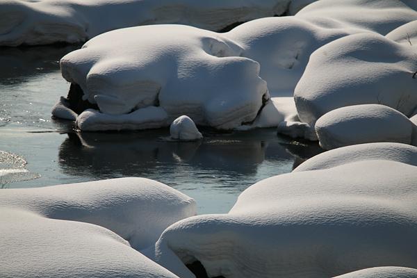 豊平川 雪景色 春の気配