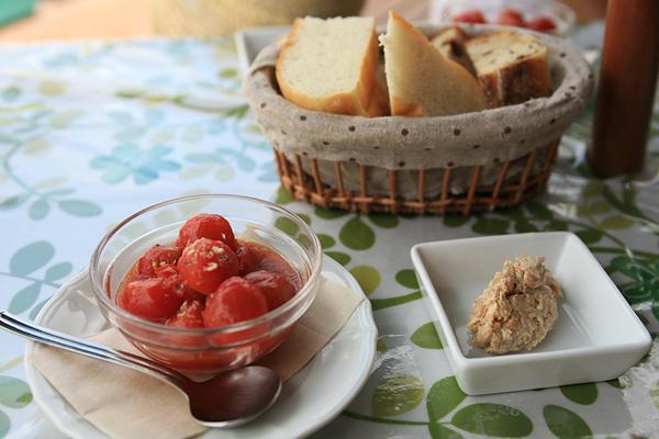 トマトのマリネ ツナと大豆のディップ
