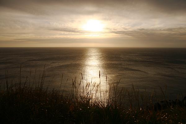 積丹半島 神威岬 駐車場 夕日