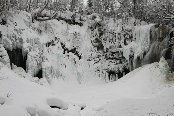 アシリベツの滝 氷瀑