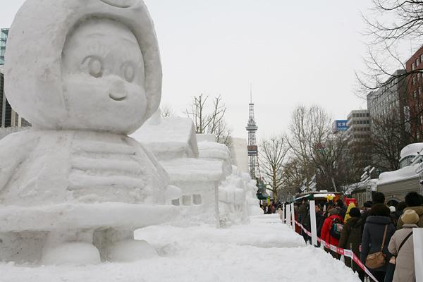 第64回さっぽろ雪まつり 2013 通路