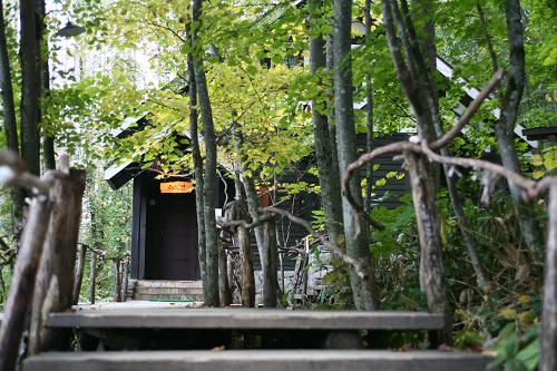 富良野 森の時計 階段