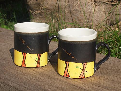 皆空窯 彩紋 マグカップ