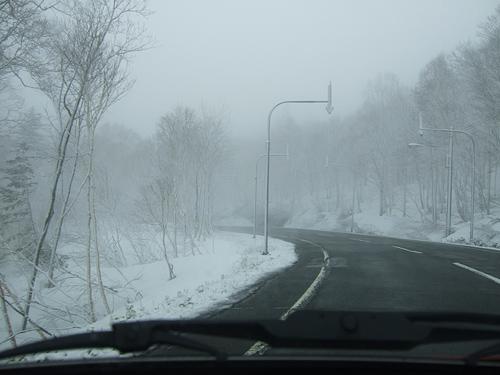 定山渓レークライン 雪