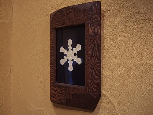 富良野 森の時計 雪の結晶の額