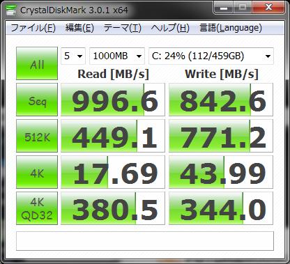 CristalDiskMark