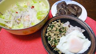 鶏のバジル炒めご飯