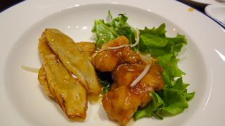 根菜と和豚の黒酢炒め