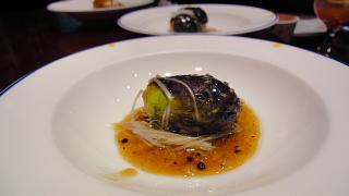 茄子黒豆ソース