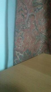 何やらカーテンが
