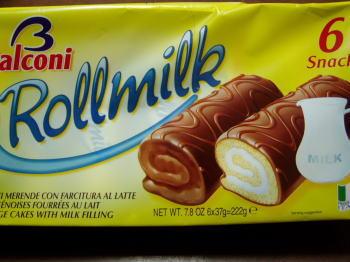 バルコニー「ミニロールケーキ ミルク」。