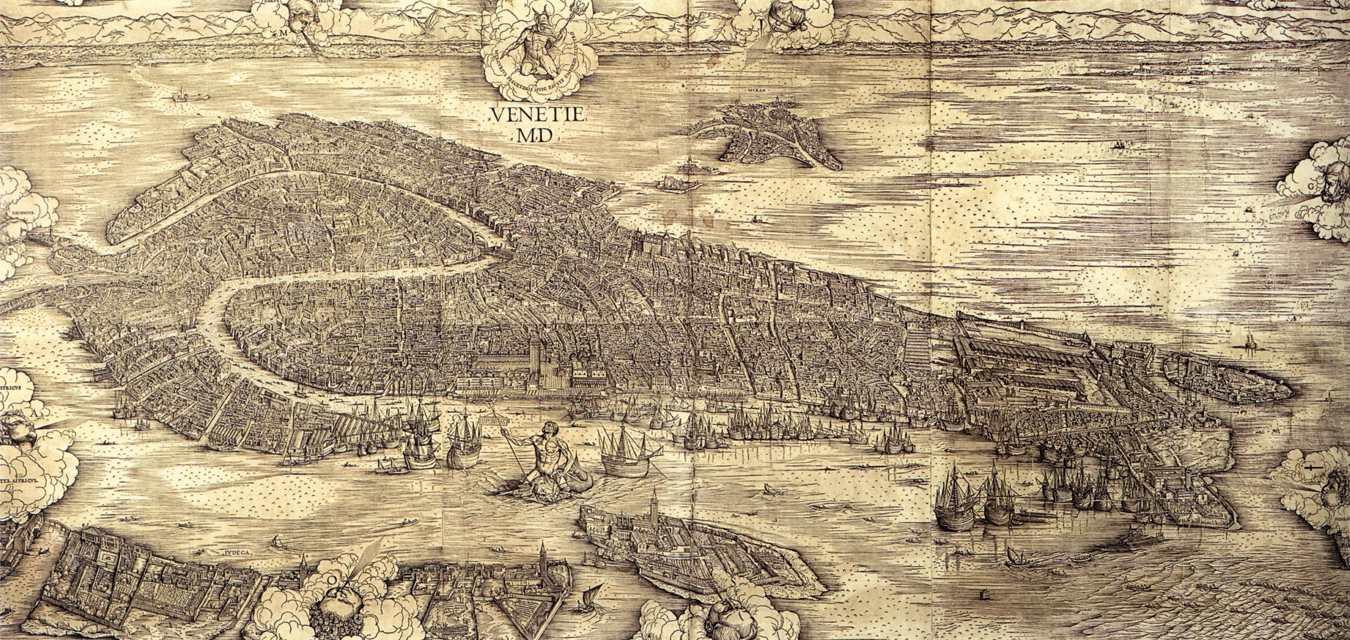 ヤ-コポ・デ・バルバリ「1500年のヴェネツィア(ヴェネツィア景観図)」