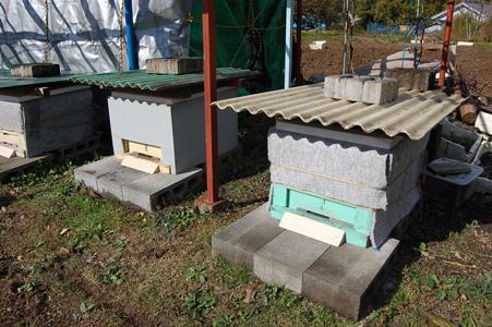 西洋蜜蜂巣箱寒さ対策